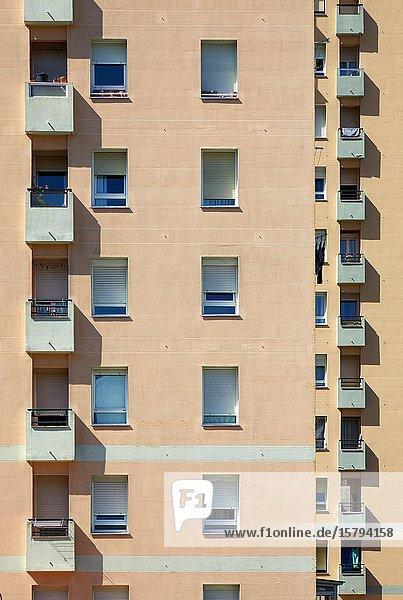 Apartment buildings  Donostia  San Sebastian  Gipuzkoa  Basque Country  Spain  Europe