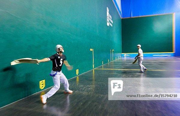 Jai Alai  Zesta-Punta (Basket tip)  Fronton Atano  Donostia  San Sebastian  Gipuzkoa  Basque Country  Spain  Europe