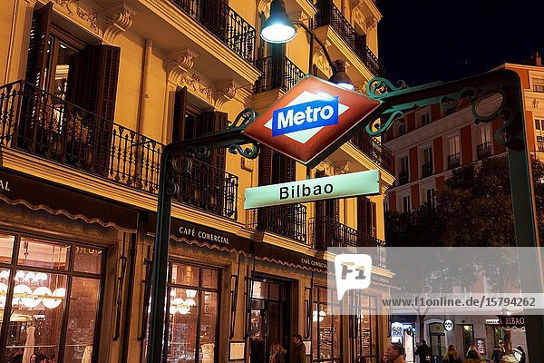 Metro Station  Glorieta Bilbao  Madrid  Spain  Europe