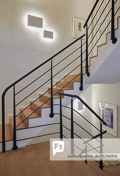 Stairs  Family house  Villa  Donostia  San Sebastian  Gipuzkoa  Basque Country  Spain  Europe