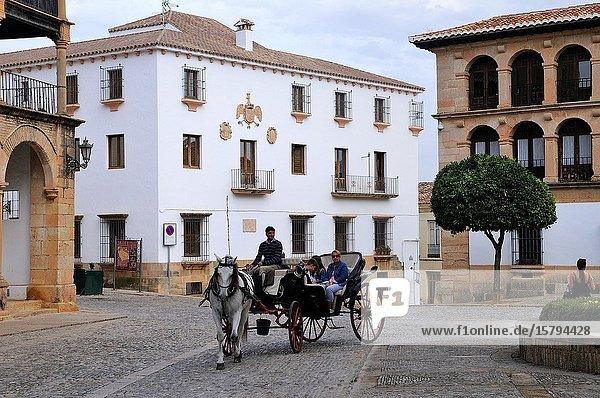 Plaza Duquesa de Parcent. Ronda. Málaga province. Andalusia. Spain