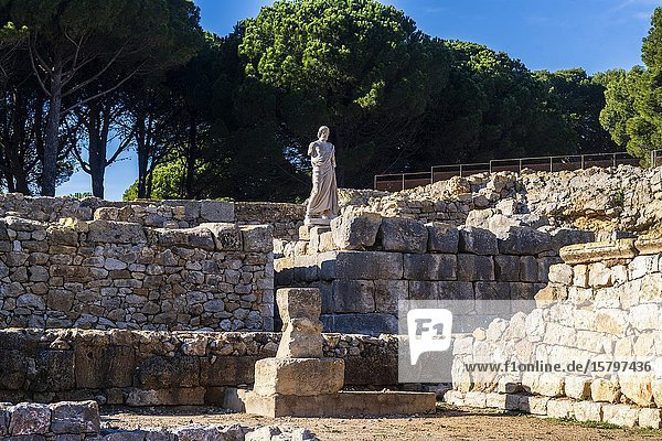 Greek / Roman archeological site of Ampuries  Girona  Catalonia  Spain.