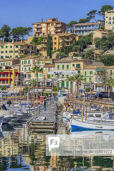Spain  Mallorca  Port de Soller  harbour