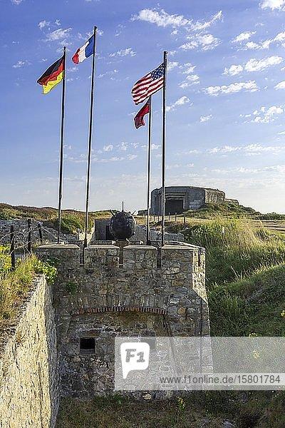 Bunkeranlagen aus dem 2. Weltkrieg  Atlantic Battle Memorial Museum  Camaret-sur-Mer  Département Finistère  Frankreich  Europa