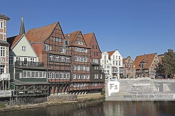 Fachwerkhäuser Am Stintmarkt  Altstadt  Lüneburg  Niedersachsen  Deutschland  Europa