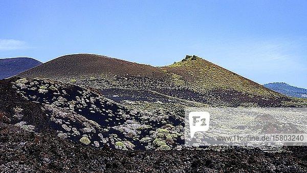 Vulkanlandschaft im Süden von La Palma  La Palma  Kanaren  Spanien  Europa