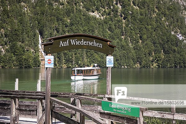 Historische Elektroboote auf dem Königssee  Berchtesgaden  Bayern  Deutschland  Europa