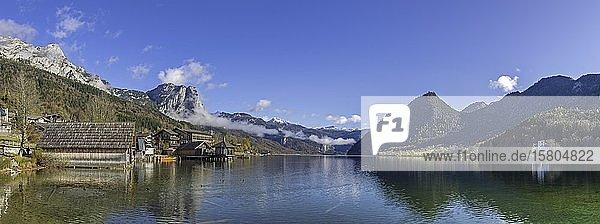 Bootshaus am Grundlsee  Grundlsee  Steiermark  Österreich  Europa