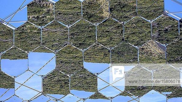Detail eines Spiegels vom Observatorium am Roque de Los Muchachos  La Palma  Kanaren  Spanien  Europa