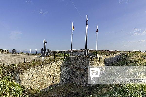 Freilichtmuseum mit Bunkeranlagen aus dem 2. Weltkrieg  Atlantic Battle Memorial Museum  Camaret-sur-Mer  Département Finistère  Frankreich  Europa
