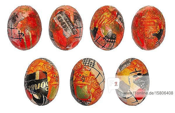 Hand painted Easter eggs with gold leaf and dollars  hand painted  exempted  Germany  Europe