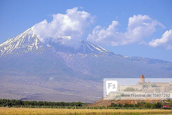 Kloster Chor Virap und Berg Ararat  Provinz Ararat  Armenien  Asien