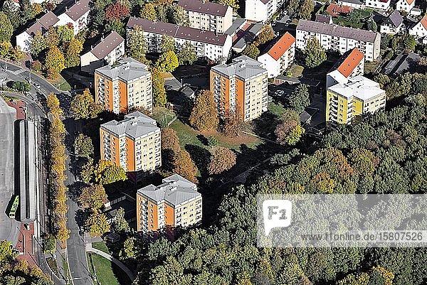 Wohnhochhäuser Baldeniusstraße  Ledeburg  Hannover  Niedersachsen  Deutschland  Europa