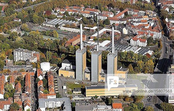 Heizkraftwerk Linden  Hannover  Niedersachsen  Deutschland  Europa