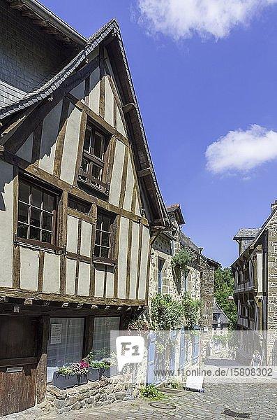 Fachwerkhäuser  Dinan  Département Côtes-d?Armor  Frankreich  Europa