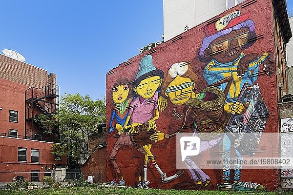 Graffiti in the Meatpacking District  Manhattan  New York City  New York State  USA  North America