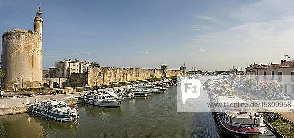 Tower of Constance and Rhône Canal  Aigues mortes  Gard department  Occitanie  france