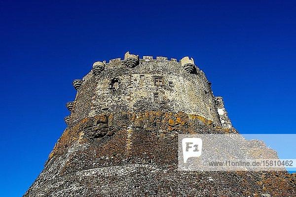 Mittelalterliches Schloss Murol,  Departement Puy de dome,  Regionaler Naturpark der Vulkane der Auvergne,  Auvergne-Rhone-Alpes,  Frankreich,  Europa
