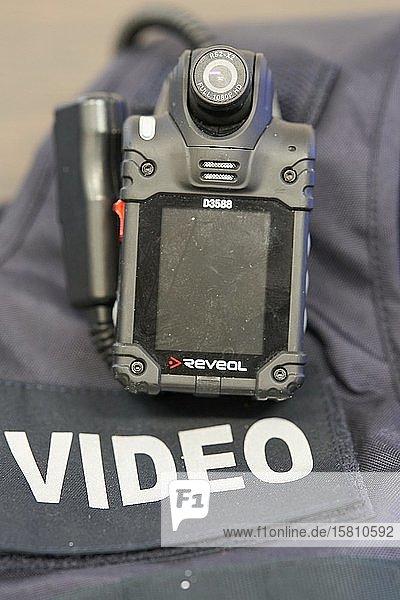 Bodycam eines Beamten der rheinland-pfälzischen Polizei  Rheinland-Pfalz  Deutschland  Europa