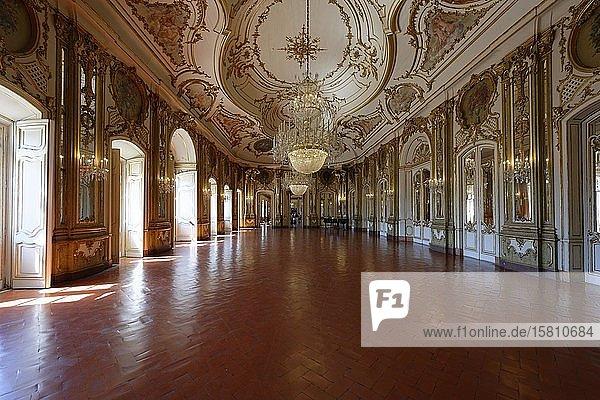 Palacio Nacional de Queluz  Thronsaal  Queluz  Portugal  Europa