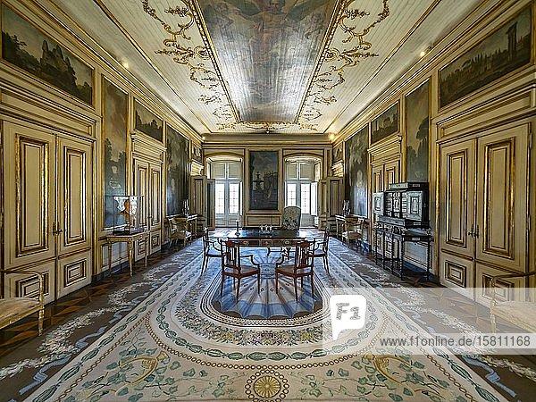 Innenansicht Palacio Nacional de Queluz,  Queluz,  Lissabon,  Portugal,  Europa, Innenansicht Palacio Nacional de Queluz,  Queluz,  Lissabon,  Portugal,  Europa