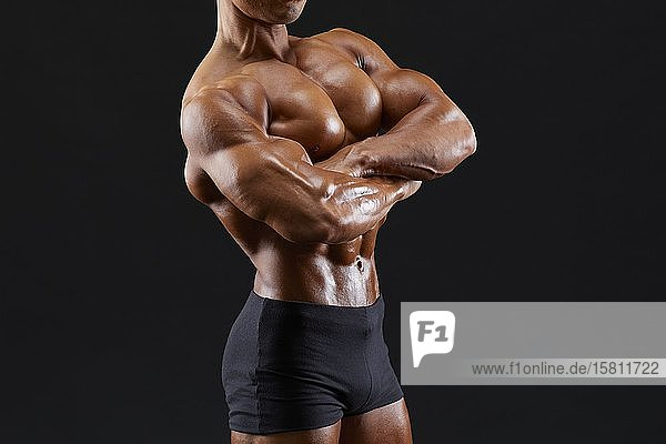 Japanese male bodybuilder