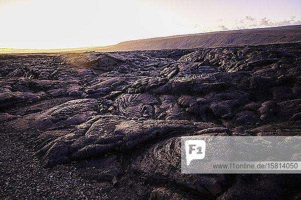 Lava flow  Hawaii Volcanoes National Park  UNESCO World Heritage Site  Big Island  Hawaii  United States of America  North America