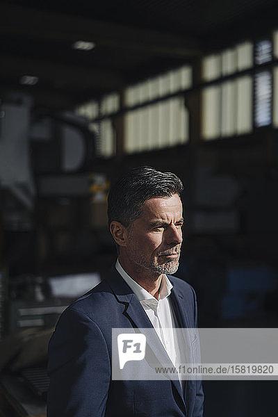 Porträt eines Geschäftsmannes in einer Fabrik