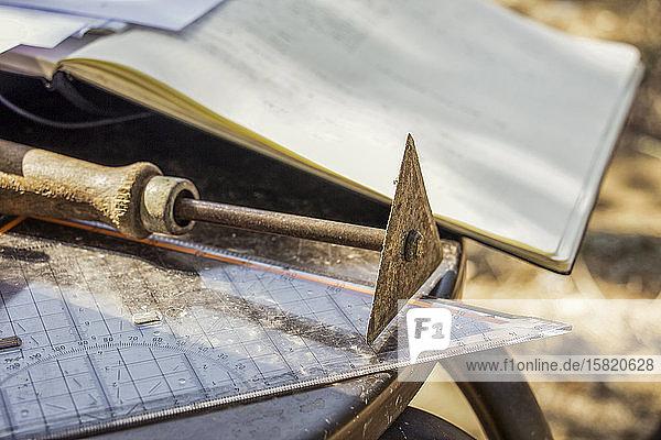 Griechenland  Olympia  Archäologische Kelle  Stellplatz und Dokumentationsbuch
