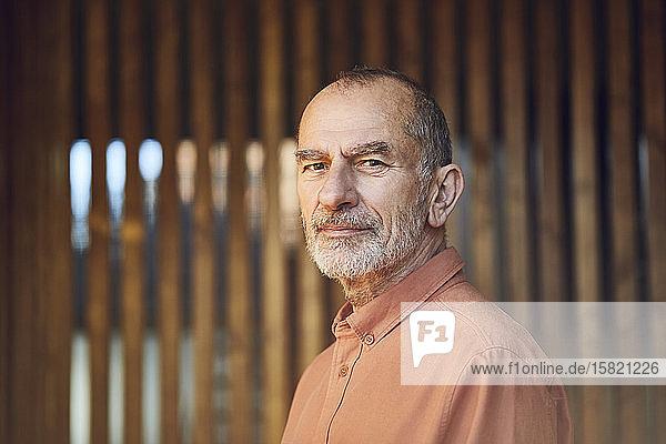 Porträt eines älteren Mannes mit grauem Haar und Bart