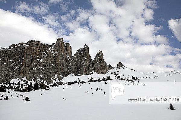 Sella group in winter  Dolomites  Alto Adige  Italy