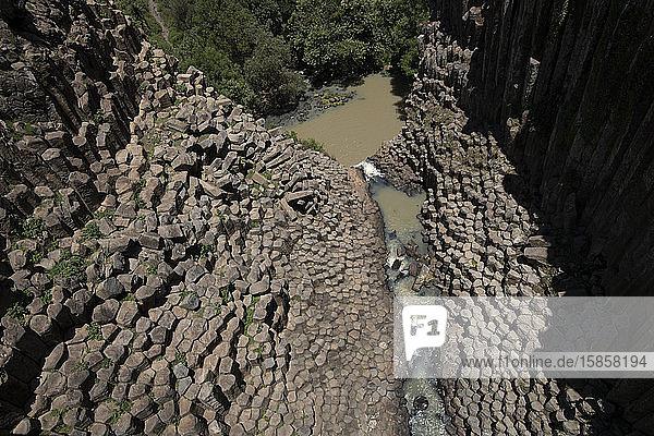 Prismas Basalticos  Hidalgo  Mexiko