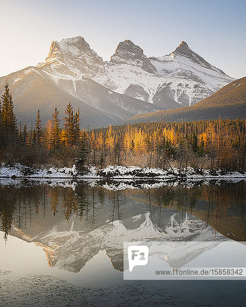Three Sisters Mountains  Canmore  Alberta