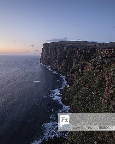 Red sandstone sea cliffs of Hoy  Orkney  Scotland