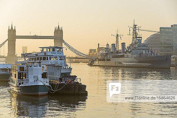 Tower Bridge on the River Thames  London  England  United Kingdom  Europe