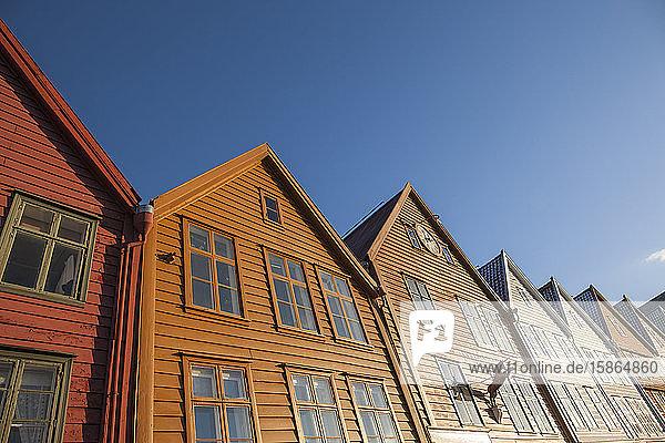 Traditional wooden buildings  Bergen  UNESCO World Heritage Site  Norway  Scandinavia  Europe
