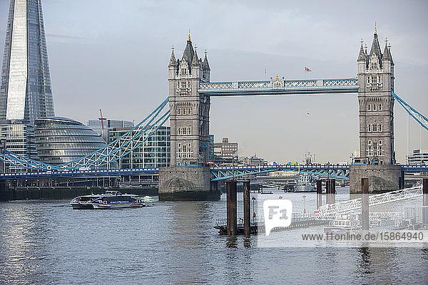 Tower Bridge and the River Thames  London  England  United Kingdom  Europe