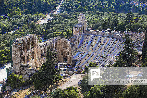 The Odeon of Herodes Atticus (the Herodeon)  Athens  Greece  Europe
