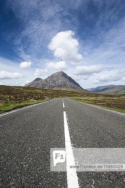 Road through Glencoe  Scotland  United Kingdom  Europe