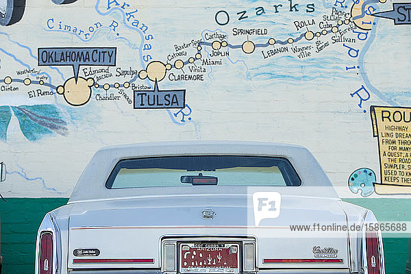 Parked car on Route 66  Kingman  Arizona  United States of America  North America