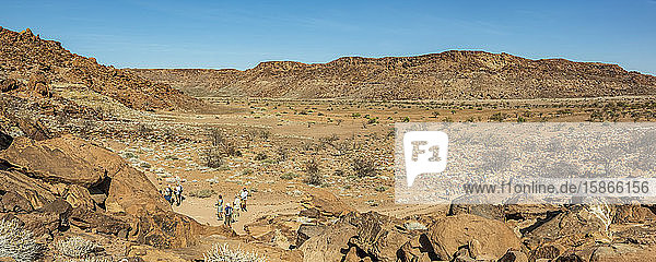 Twyfelfontein  an ancient rock engravings site in Damaraland; Kunene Region  Namibia