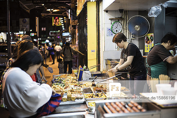 Street food in Hong Kong at night; Hong Kong  China