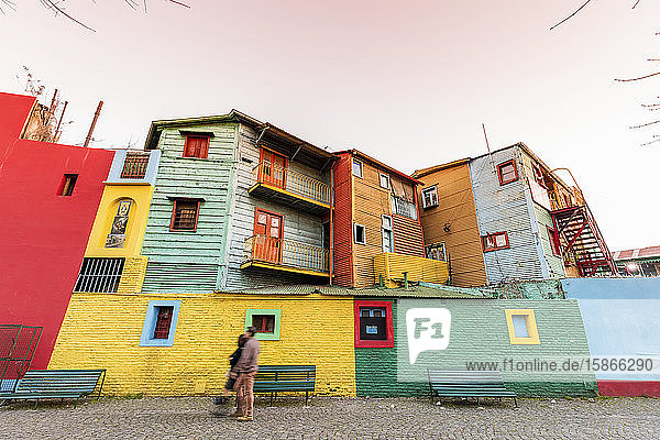 Caminito  colourful residential buildings; Buenos Aires  Argentina