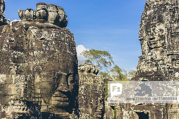 Bayon Temple in the Angkor Wat complex; Siem Reap  Cambodia