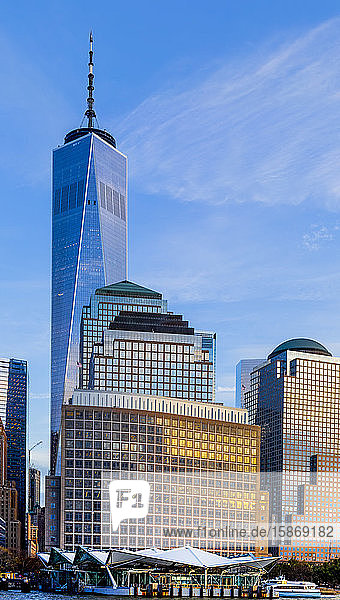 One World Trade Center  Manhattan  downtown New York City; New York City  New York  United States of America