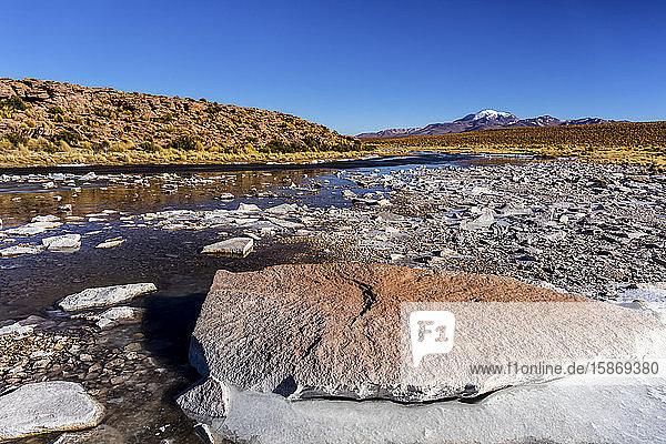 River in the Altiplano; Potosi  Bolivia