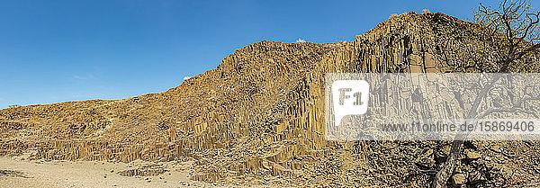 Organ Pipes  iron rich lava formations  Damaraland; Kunene Region  Namibia
