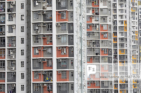 Public housing apartments  Shek Kip Mei  Kowloon  Hong Kong  China  Asia