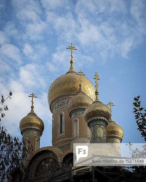 Orthodox Church domes and steeples  Bucharest  Romania  Europe