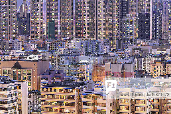 Apartment blocks,  Kowloon,  Hong Kong,  China,  Asia